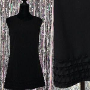 90's Black Dress with Ruffled Bottom